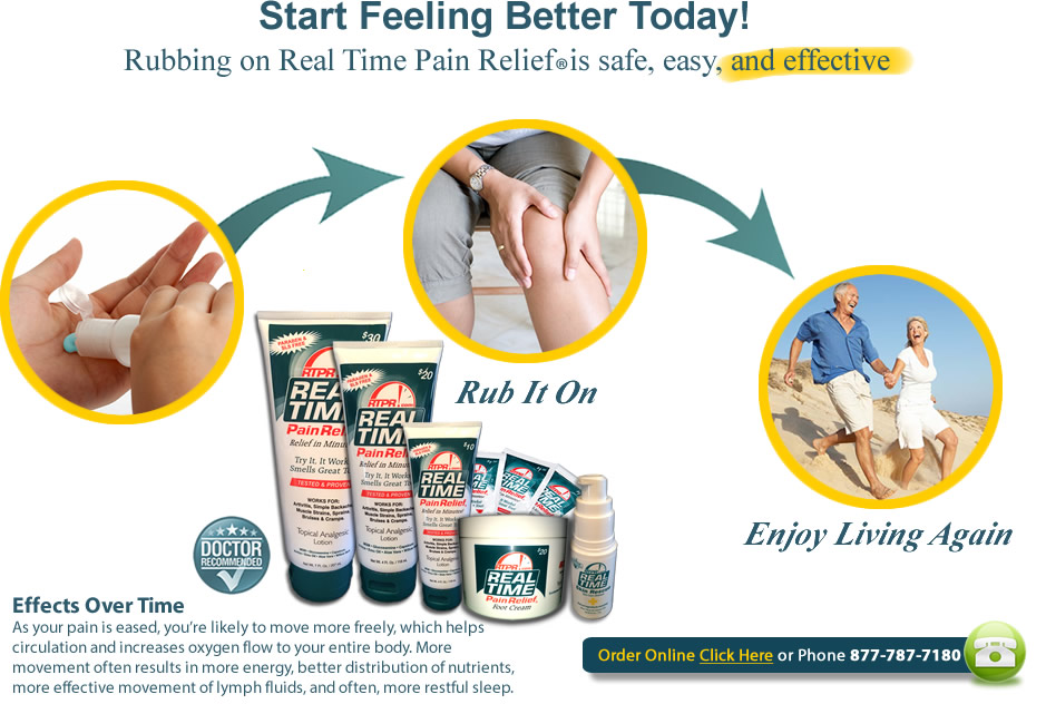 Real Time Pain Relief 7oz Topical Cream
