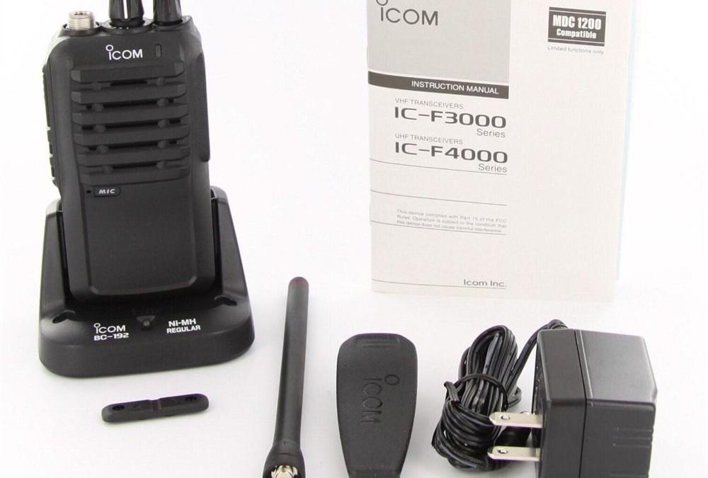 Icom F4001 UHF 4 Watt 16 Channel Handheld Radio